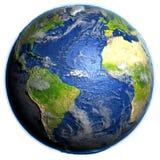 Océano Atlántico en la tierra - suelo marino visible ilustración del vector