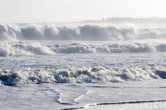 Océano blanco enojado Foto de archivo libre de regalías