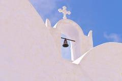 Océano de Belces de iglesia de Santorini Grecia Oia Fotos de archivo libres de regalías