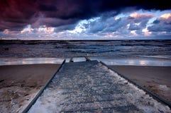 Océano de la puesta del sol Fotos de archivo libres de regalías