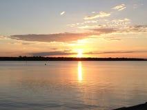 Océano de la puesta del sol Imagen de archivo libre de regalías