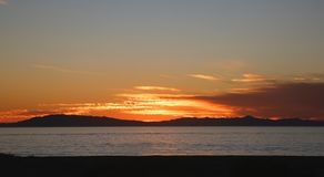 Océano de la puesta del sol Fotografía de archivo
