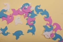 Océano de los juguetes de los leones marinos Fotografía de archivo