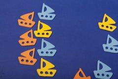 Océano de los juguetes de los veleros Fotos de archivo