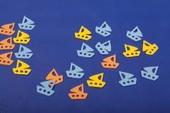 Océano de los juguetes de los veleros Fotografía de archivo libre de regalías