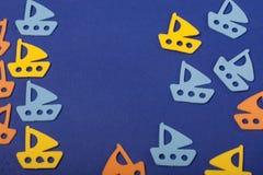 Océano de los juguetes de los veleros Imagenes de archivo