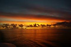 Océano de South Pacific Fotografía de archivo