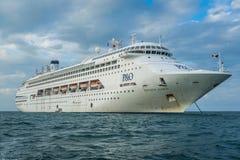 Océano de South Pacific, Australia - trazador de líneas de la travesía de P&O imágenes de archivo libres de regalías