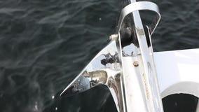 Océano debajo del ancla almacen de video