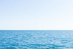 Océano del cielo y del mar por la tarde Fotografía de archivo
