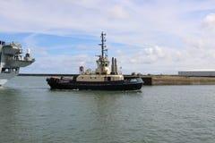 Océano del HMS que llega Sunderland, el 1 de mayo de 2015 Fotos de archivo libres de regalías