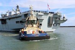 Océano del HMS que llega Sunderland, el 1 de mayo de 2015 Foto de archivo libre de regalías