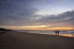 Océano en el amanecer Imagen de archivo