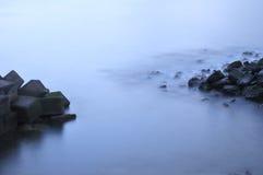 Océano en la noche Imagen de archivo