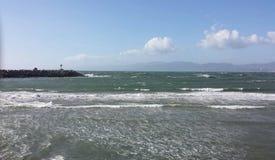 Océano en Windy Day Foto de archivo
