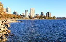 Océano Pacífico de la bahía inglesa, Vancouver céntrica, Columbia Británica fotos de archivo