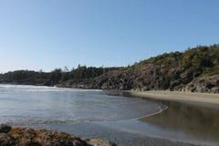 Océano Pacífico de la playa que da cara al Norte del sur Fotos de archivo