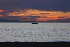Océano Pacífico del barco de pesca Fotos de archivo