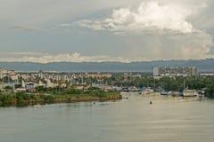 Océano Pacífico mexicano con el puerto deportivo Imagen de archivo libre de regalías