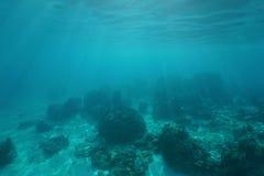 Océano Pacífico subacuático del suelo marino del paisaje Imagen de archivo libre de regalías