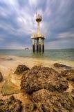 Océano Phang Nga del faro del paisaje marino Imagenes de archivo