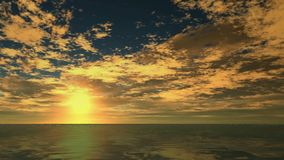 Océano que cruza - paseo de la cámara sobre el agua libre illustration