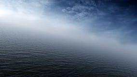 Océano tempestuoso de la mucha altitud ilustración del vector