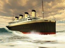 Océano-Trazador de líneas titánico Fotografía de archivo
