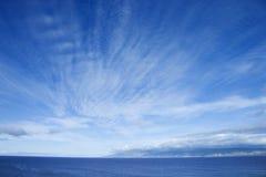 Océano y cielo. fotografía de archivo