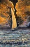 Océano y nave Foto de archivo libre de regalías