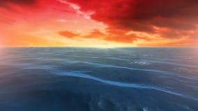 Oc?an calme pendant le coucher du soleil illustration libre de droits