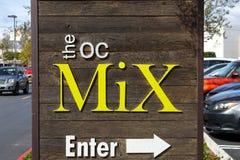 The OC Mix sign stock photos