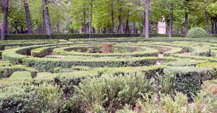 Oca Gardens with maze Royalty Free Stock Images