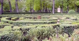 Oca-trädgårdar med maze Royaltyfria Bilder