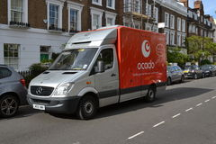 Ocado delivery van Stock Photo