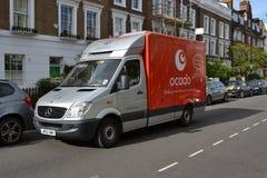Ocado leveransskåpbil Arkivfoto