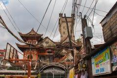 Ocampo Pagoda. Manila, Philippines. Ocampo Pagoda on street in Manila, Capital Philippines royalty free stock photo