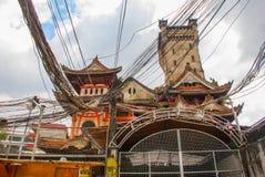 Ocampo Pagoda. Manila, Philippines. Ocampo Pagoda on street in Manila, Capital Philippines royalty free stock photos