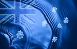 Océan australien abstrait de drapeau Images stock