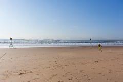 Océano corriente de la playa del muchacho Fotografía de archivo libre de regalías