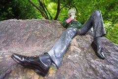 Ocar王尔德雕象, Merrion广场,都伯林 库存照片