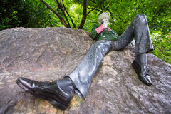 Ocar Wilde Statue, Merrion Square, Dublin. A statue of Oscar Wilde in Dublin stock photos
