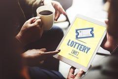 Ocasión de la lotería que juega a Lucky Risk Game Concept Foto de archivo