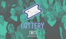 Ocasión de la lotería que juega a Lucky Risk Game Concept Fotografía de archivo libre de regalías