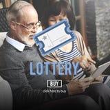 Ocasión de la lotería que juega a Lucky Risk Game Concept Foto de archivo libre de regalías