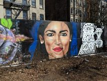Ocasio-Cortez mural royalty free stock photography