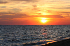 Ocaso del mar Fotos de archivo