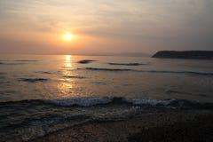 Ocaso del mar Fotos de archivo libres de regalías