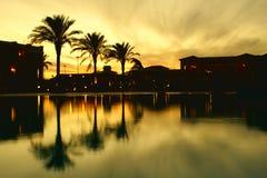 Ocaso egipcio Foto de archivo libre de regalías
