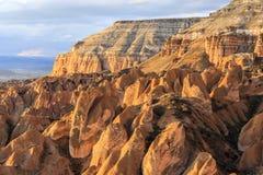 Ocaso en Capadocia Turquía Imagen de archivo libre de regalías